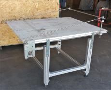 "Delta adjustable height 74 x 59"" belt conveyor"