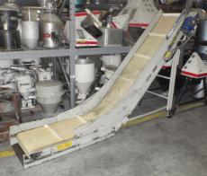 EMI KK-18-5-6-40-45 flat to incline conveyor