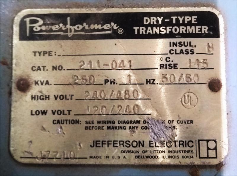 Jefferson Transformer Wiring Diagram