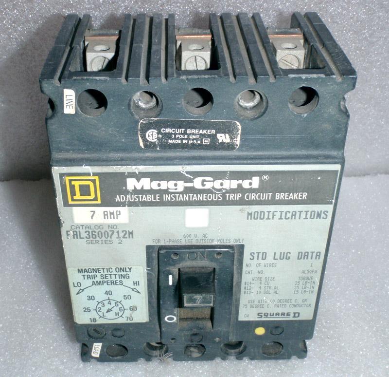 Mag-Gard FAL3600712M Adjustable Instantaneous Trip Circuit Breaker ...