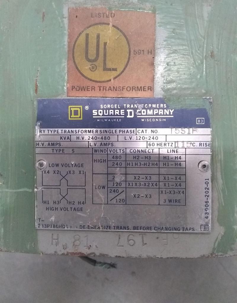 Square D Company T5S1F Transformer | Garden City Plastics