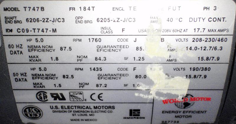 Us electrical t747b 5hp motor garden city plastics us electrical t747b 5hp motor label publicscrutiny Images