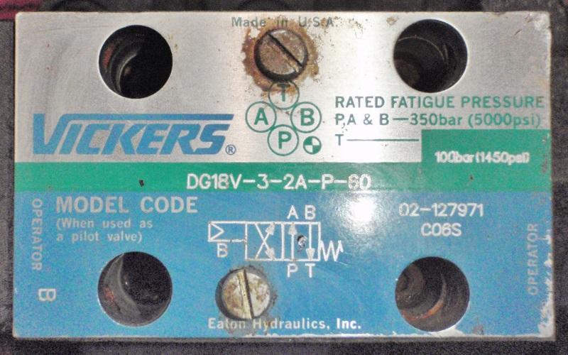 Vickers Directional Control Valve DG19S-8-2A-P-30 | Garden