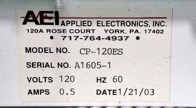 Applied Electronics Inc. CP-120ES Metabloc Metal Monitor