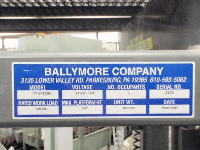 Ballymore Model TT-SPECIAL Tank Top Lift Tag
