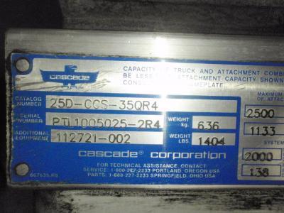 Cascade 25D-CCS-35QR4 data tag