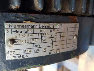 Mannesmann Demag 132S-6 data tag