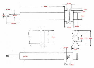Fischer 19.05 mm diameter blow pins dimensions