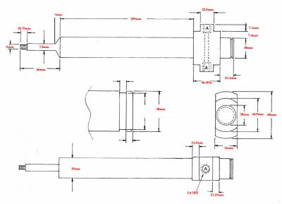 Fischer 19mm diameter water-cooled blow pin drawing