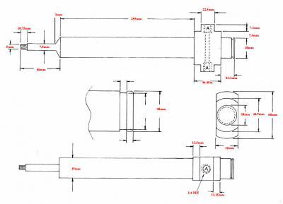 Fischer 19mm diameter water-cooled blow pin drawing