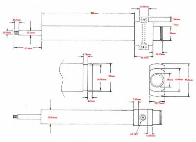 Fischer 28.54 mm water-cooled blow pin drawing