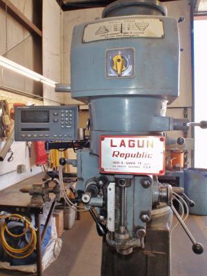 Lagun FT.1 9 in. X 42 in. vertical milling machine digital readout