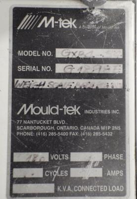 M-tek GXB4-54 weigh scale blender data tag