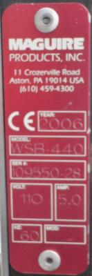 Maguire WSB-440 Weigh Scale Blender data plate