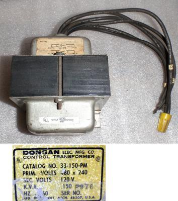 O.A. Schott S-5268A Tansformer