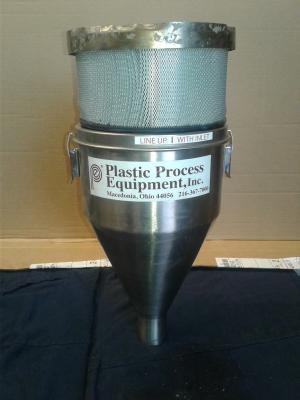 Plastics Process Equipment Small Loader Hopper w Filter Attachment