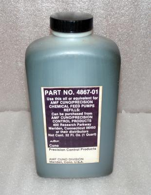 Precision Control Products 4867-01 Chemical Feed Pump Oil